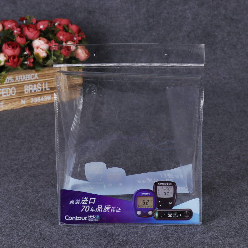 Electronic product packaging plastic self sealing bag custom logo PVC self sealing bag wholesale advertising plastic bag