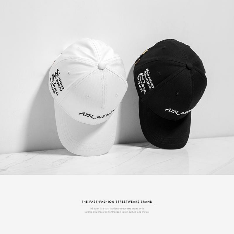 Guoguowen hip hop hip hop English embroidery Guochao mens and womens Bboy Chao brand popping baseball cap