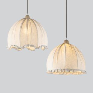 乡村北欧个性 创意布艺日式 复古吊灯麻布灯饰艺术田园美式 餐厅灯具
