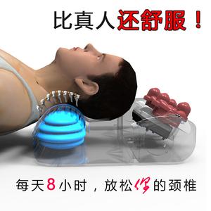 牵引电动多功能加热颈椎按摩枕头