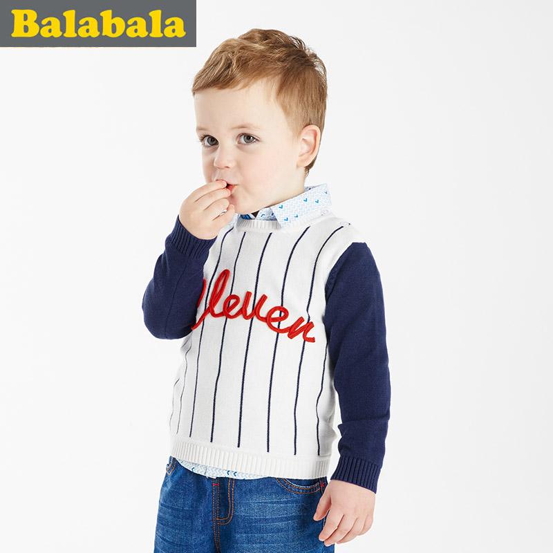 巴拉巴拉純棉套頭針織衫