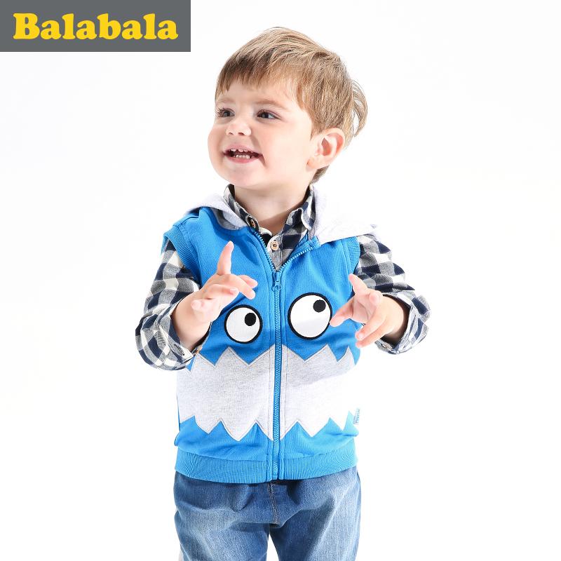 巴拉巴拉寶寶兒童純棉馬甲