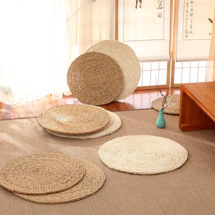 包邮蒲草藤草编榻榻米蒲团坐垫加厚飘窗和室打坐拜佛禅修垫子