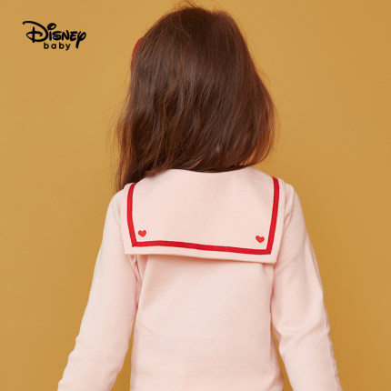 Disney girls' bottoming shirt spring and autumn 2020 new baby long sleeve T-shirt western style baby's pure cotton top