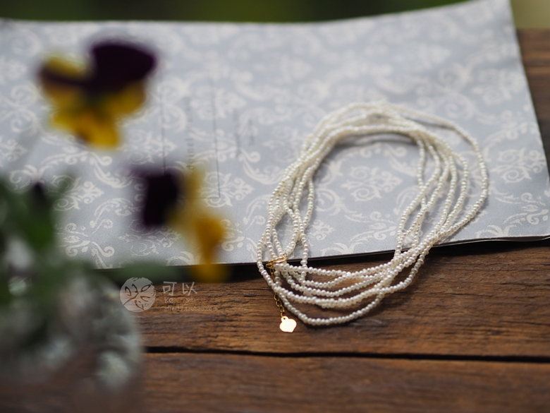 手作天然淡水珍珠极细稀有多用项链细细碎碎圆圆小小岛