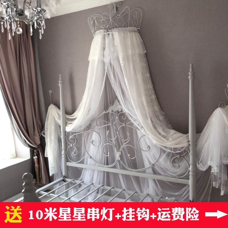 欧式公主韩式结婚儿童圆顶落地床幔