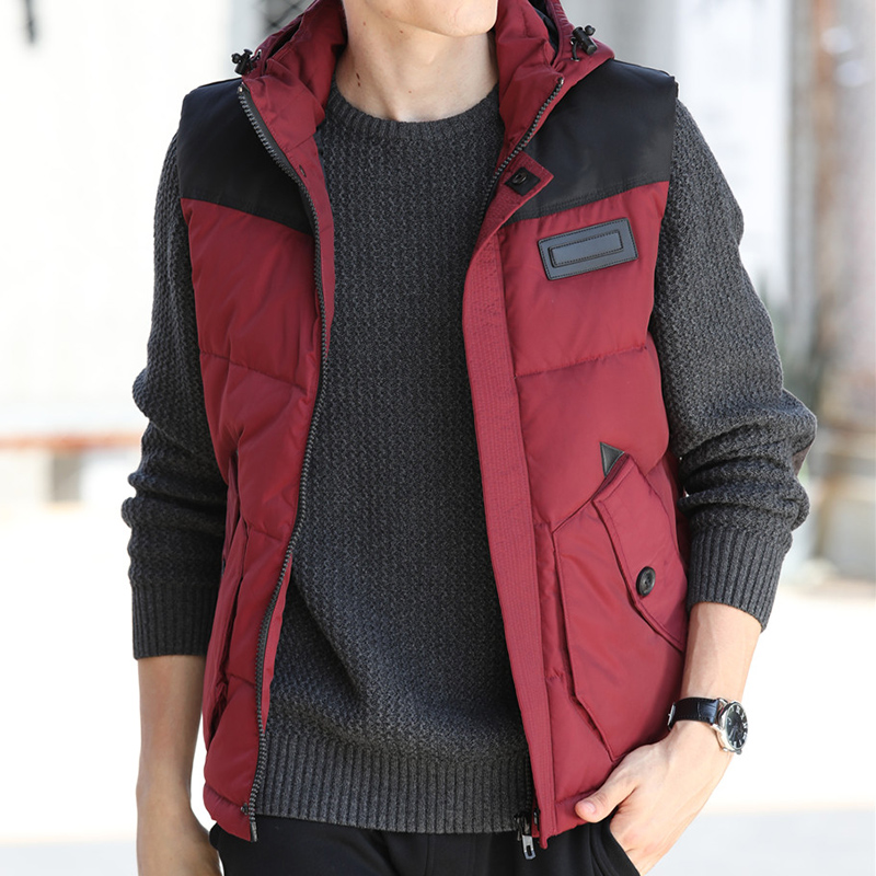 Jeepdun mens down vest autumn winter new casual thickened jacket Korean version down vest down jacket mens fashion