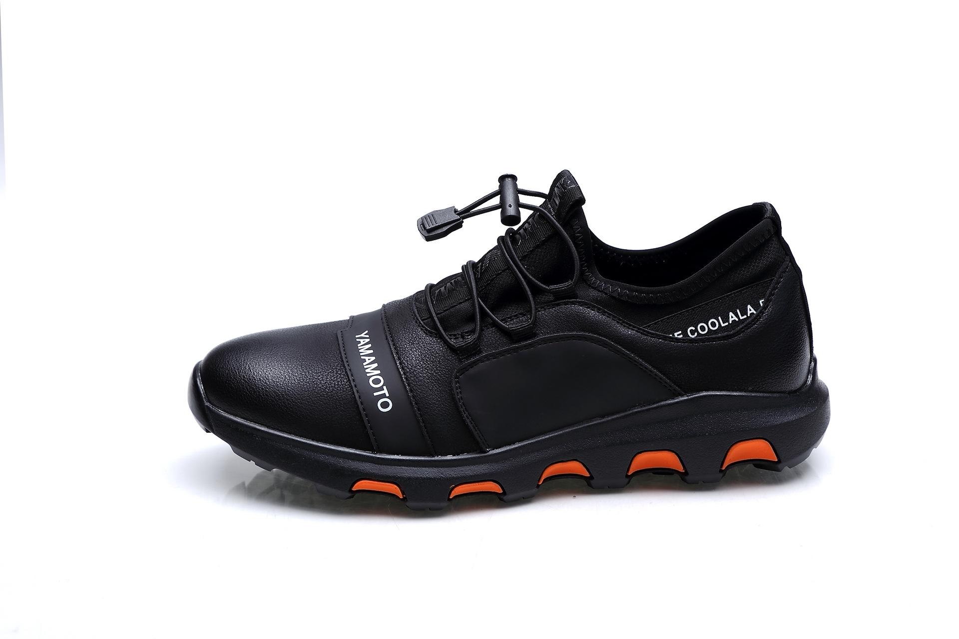 温州春季休闲男鞋懒人鞋男韩版运动鞋  真皮男式单鞋