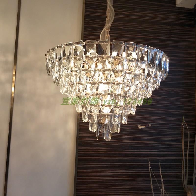 2019新款后现代水晶吊灯轻奢大气灯设计师样板房客厅餐厅烟灰吊灯