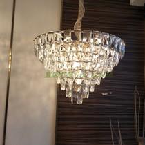 2021新款后现代水晶吊灯轻奢大气灯设计师样板房客厅餐厅烟灰吊灯