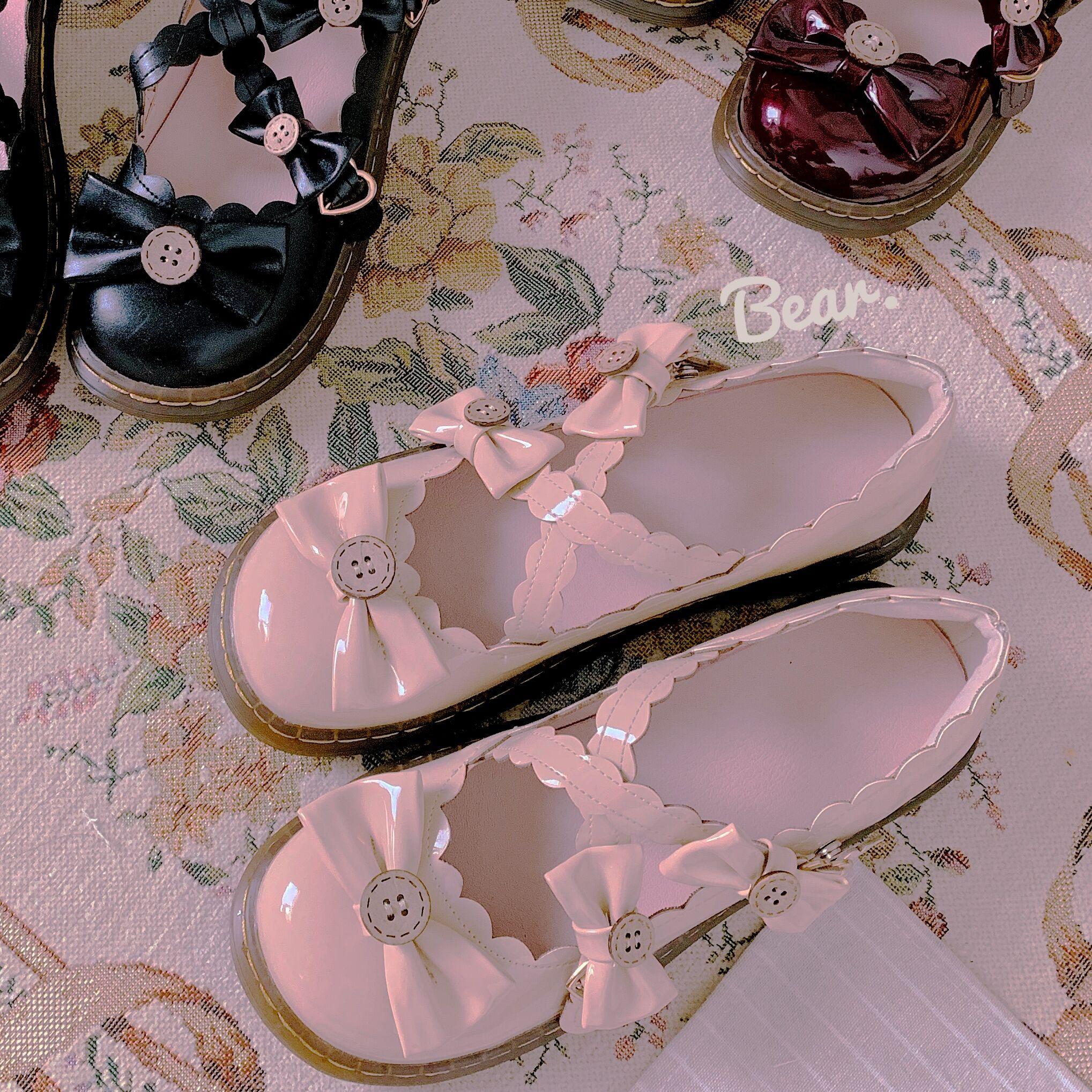Baby bear [full stock] original womens shoes of world grape Lolita