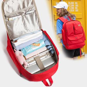 牛之骨双肩包女韩版学院风中学生书包大容量旅行背包15.6寸电脑包图片