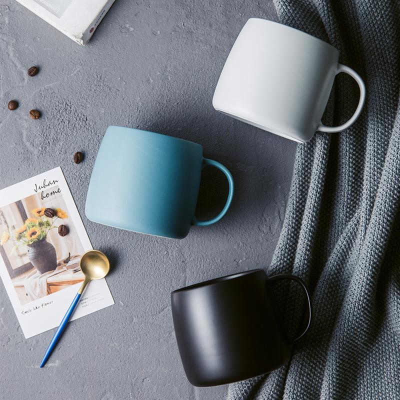 环保养生瓷哑光马克杯