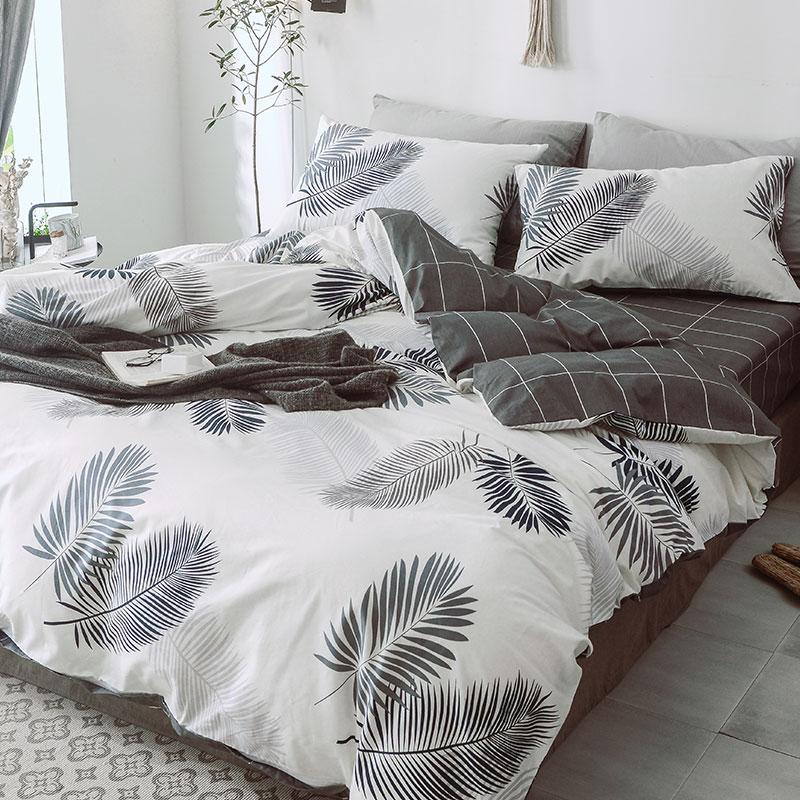北欧风全棉四件套纯棉网红款床单被套三件套床上用品夏季床品套件