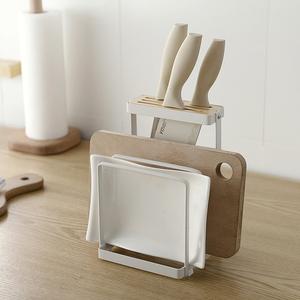 刀架厨房用品收纳架砧板架多功能厨房置物架刀具刀座菜板架菜刀架