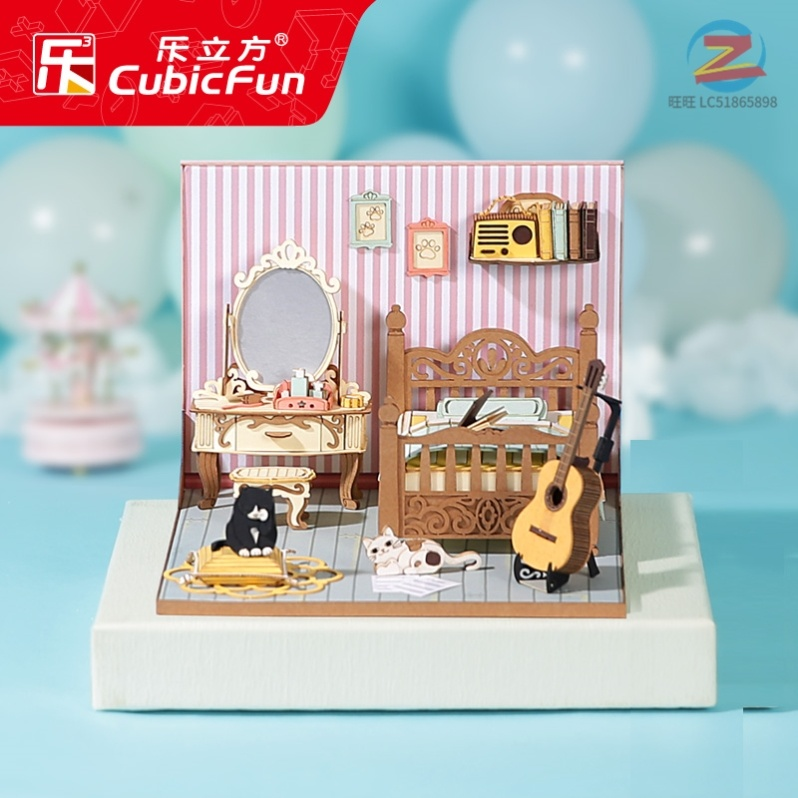 Le Cube 3D three-dimensional puzzle diy cottage hand-stitched creative model house girl day gift into