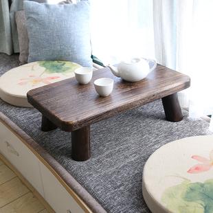 日式烧桐木飘窗桌榻榻米桌 实木电脑桌 床上书桌矮台茶几炕桌炕几
