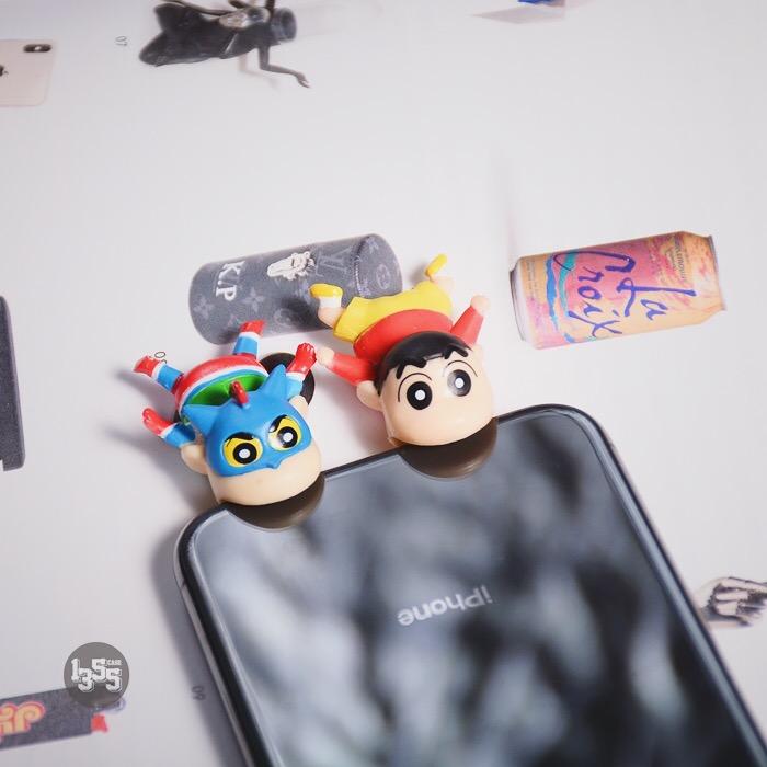 可爱卡通咬苹果保护神器充电器iphone造型数据线保护神器防折断男满58.00元可用40元优惠券