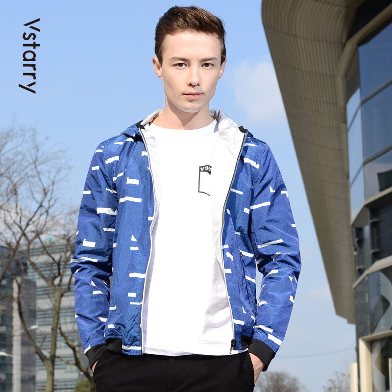 Mens spring youth long sleeve handsome new short fit bomber collar casual cardigan coat