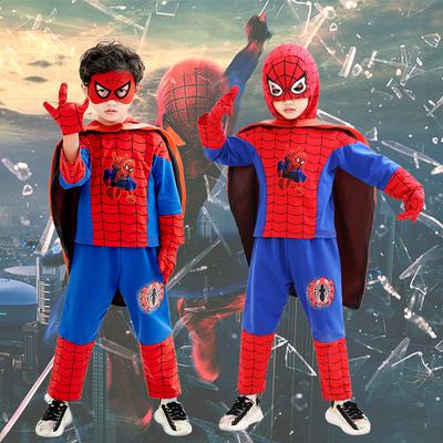 儿童演出服装男童蜘蛛侠套装幼儿园cosplay化妆舞会角色扮演衣服