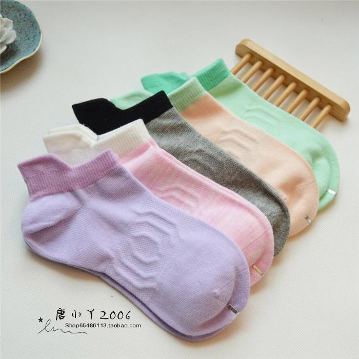 Foreign trade original single high quality waist sports socks womens pure cotton socks spring and summer running socks low top boneless womens socks