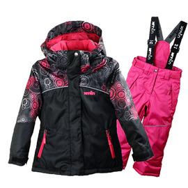欧美女童户外滑雪服套装儿童加厚保暖防风冲锋衣滑雪装备滑雪裤新