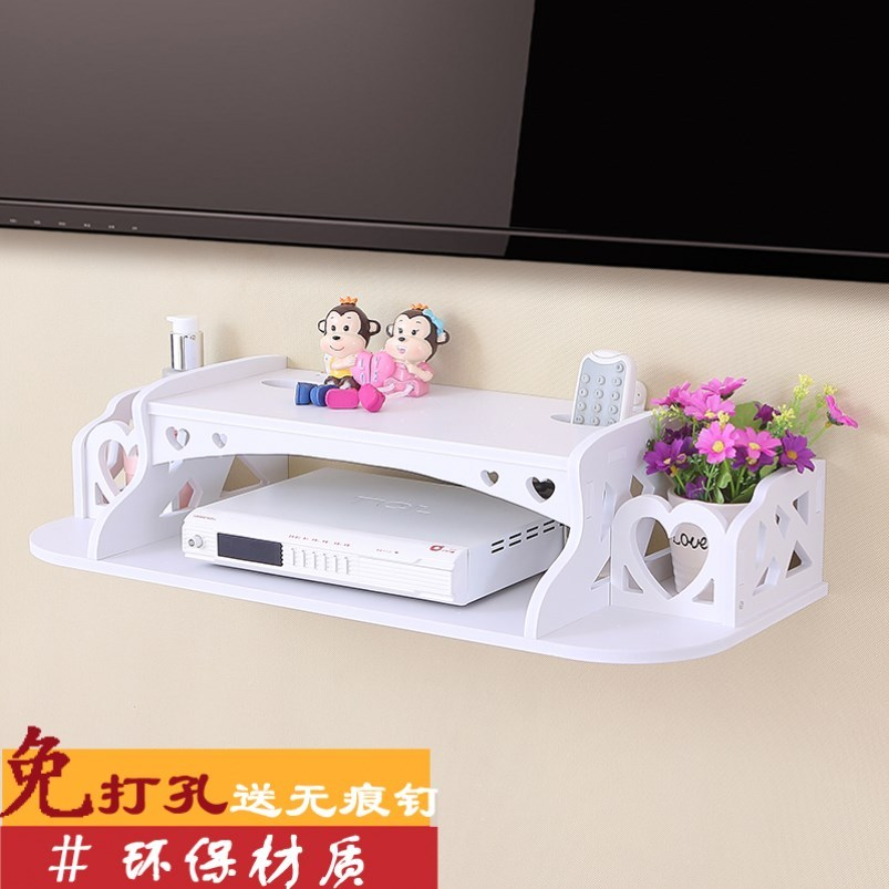 TV set top box router shelf storage cabinet cat student tray assembly box WF nail free bathroom wall hanging