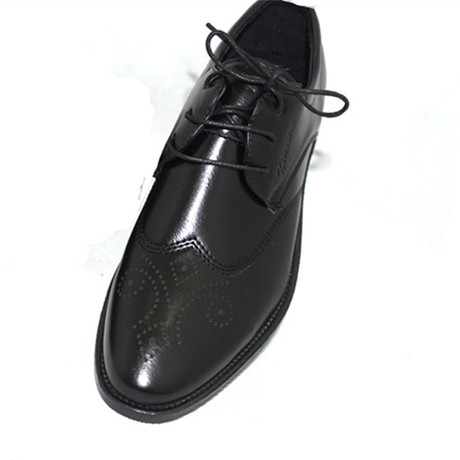 British business dress mens leather shoes European fashion carved mens shoes Korean pointed lace up block Shoes Black