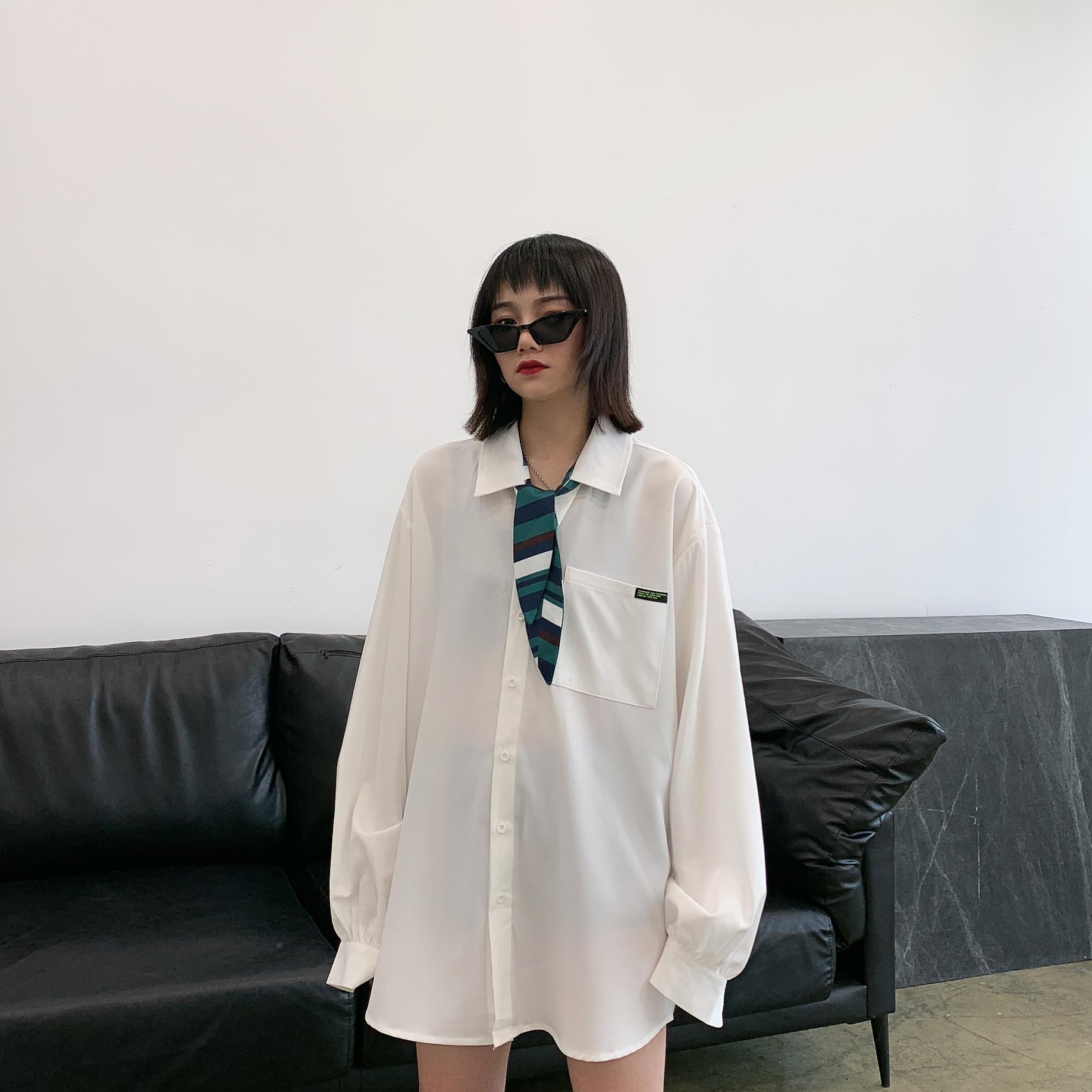 11月06日最新优惠chic春秋bf慵懒风设计感小众衬衣