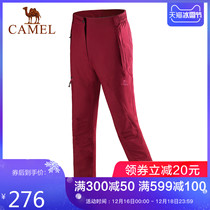 (Hot 60000 pieces) camel outdoor rushing pants men and women in autumn and winter windproof waterproof fleece warm mountaineering trousers