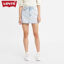 Levi''s70s系列女士新款蓝色时尚高腰百搭牛仔短裙潮流A09860001