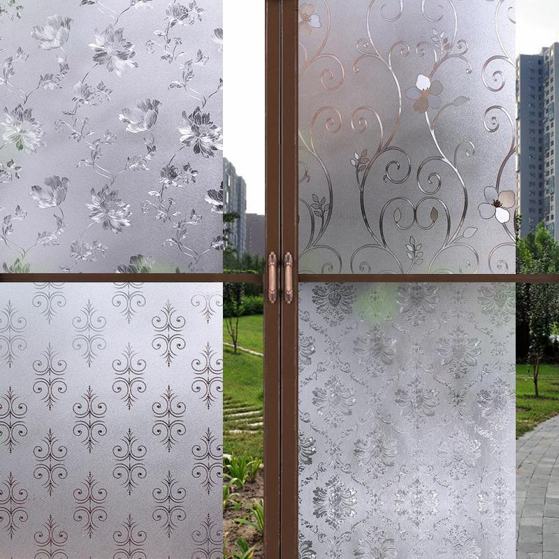窗戶玻璃貼紙浴室衛生間透光不透明磨砂貼膜防透防窺無膠靜電窗貼