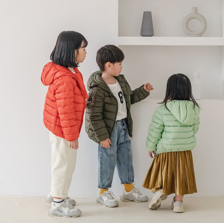 Intimate baby autumn winter 2019 new childrens down jacket light mens and womens baby Korean childrens jacket