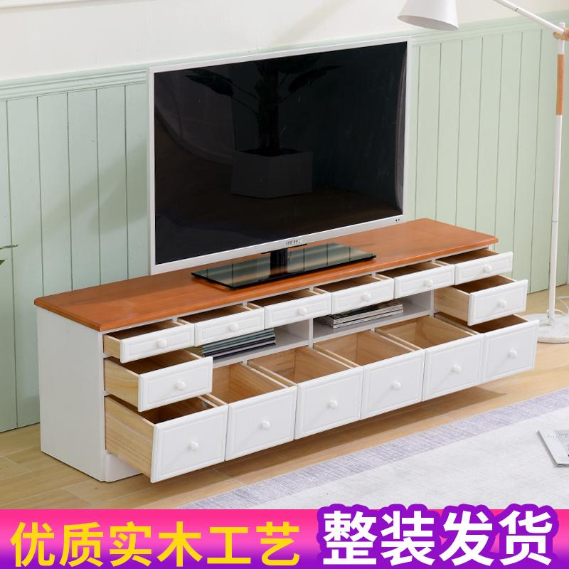 实木电视柜简约现代小户型简欧风格实惠型宜家卧室地柜家用客厅柜