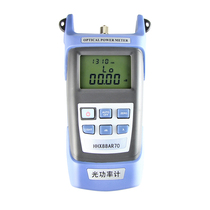 Haohanxin High precision optical power meter fiber tester light failure test Send FC SC head optical Power meter