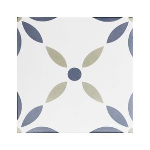 藍色小花磚地磚防滑復古廚房衞生間牆磚廁所瓷磚陽台浴室北歐風