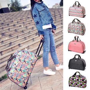大容量行李包 登机包 20寸 拉杆旅行包 短途旅游包手拖包女手提袋