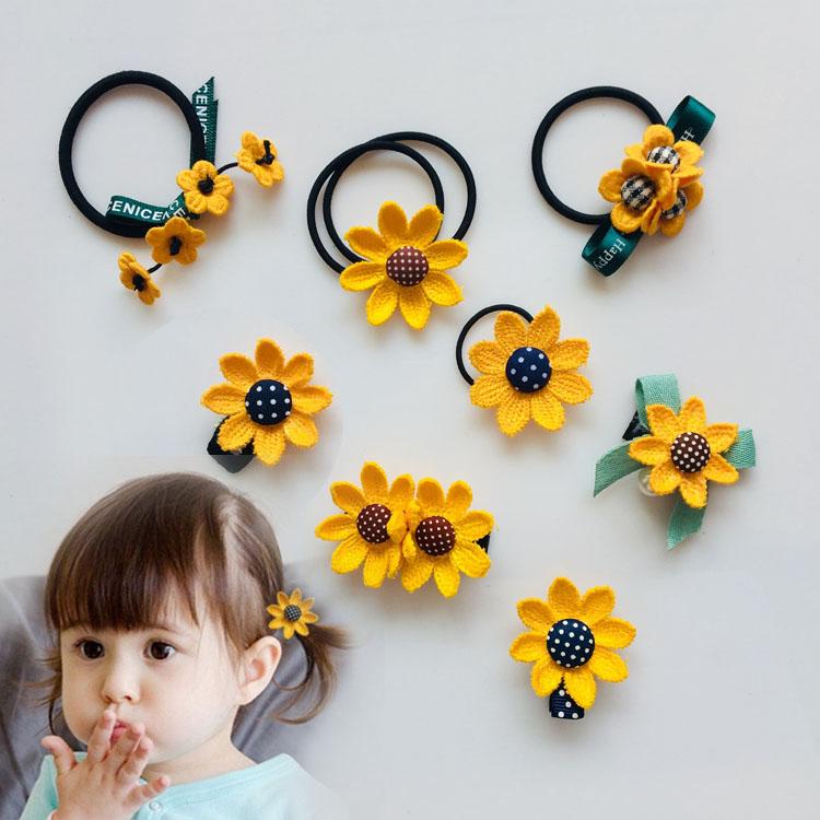 韩国儿童发饰向日葵发夹头绳头花