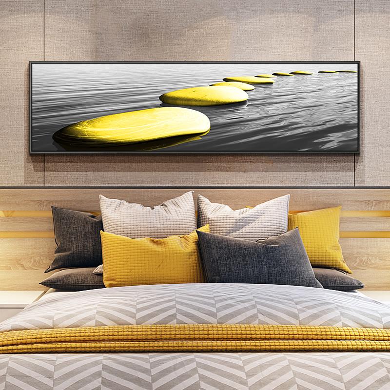 卧室床头北欧风现代简约背景墙画
