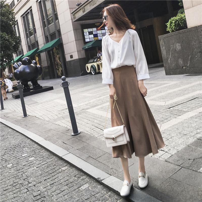 春夏款轻熟风女时髦气质上衣半身裙