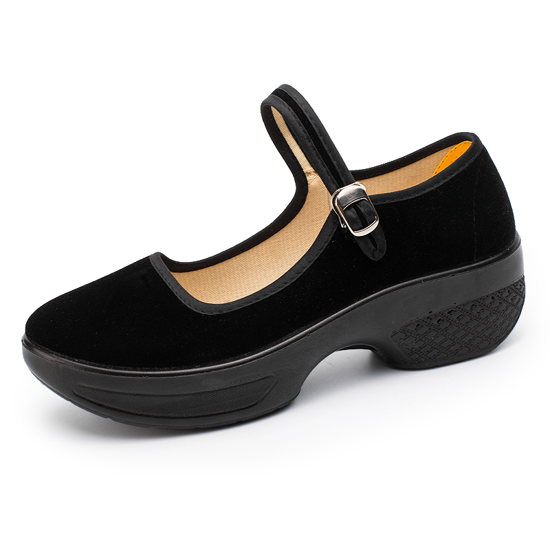 Old Beijing cloth shoes square dance shoes work shoes women black soft soled dancing shoes mother shoes antiskid womens shoes