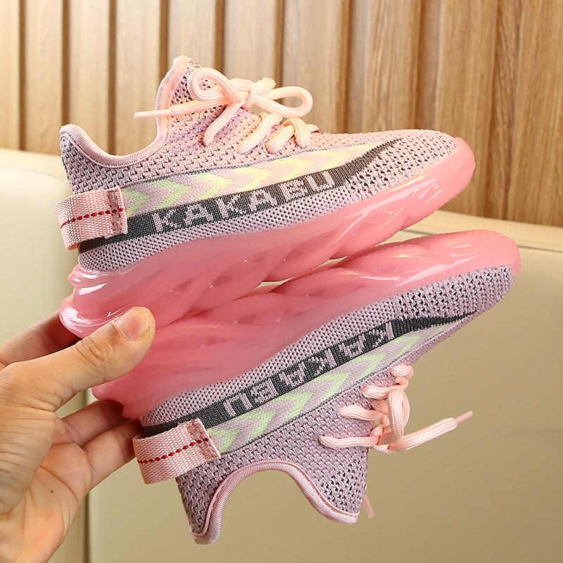 女童运动鞋男童飞织鞋子2019秋季儿童鞋子3网面透气儿童椰子鞋潮10月10日最新优惠