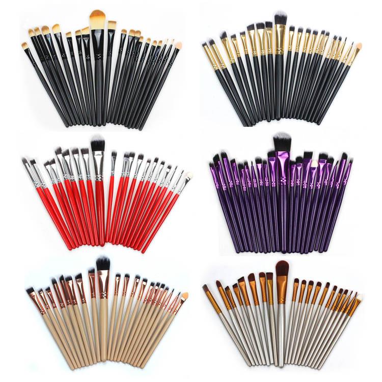 Beginner novice applies all set foundation 20 facial facial shadow makeup brush, eye shadow brush makeup tool sweep