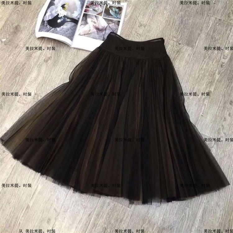 强烈推荐!高端定制2018秋冬季新款纯色修身内衬进口真丝半身裙