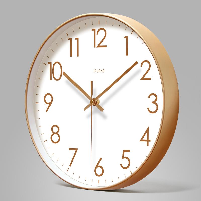 易普拉6514挂钟客厅钟表简约时尚数字时钟挂表现代创意个性石英钟 Изображение 1