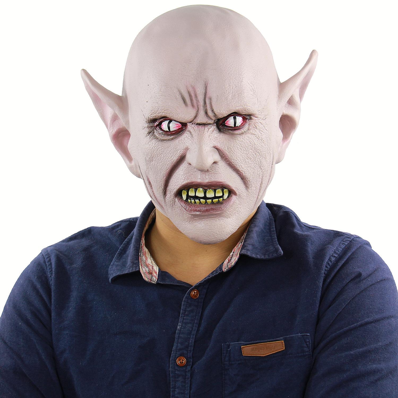 万圣节外星魔王乳胶头套可怕的僵尸角色扮演道具外贸