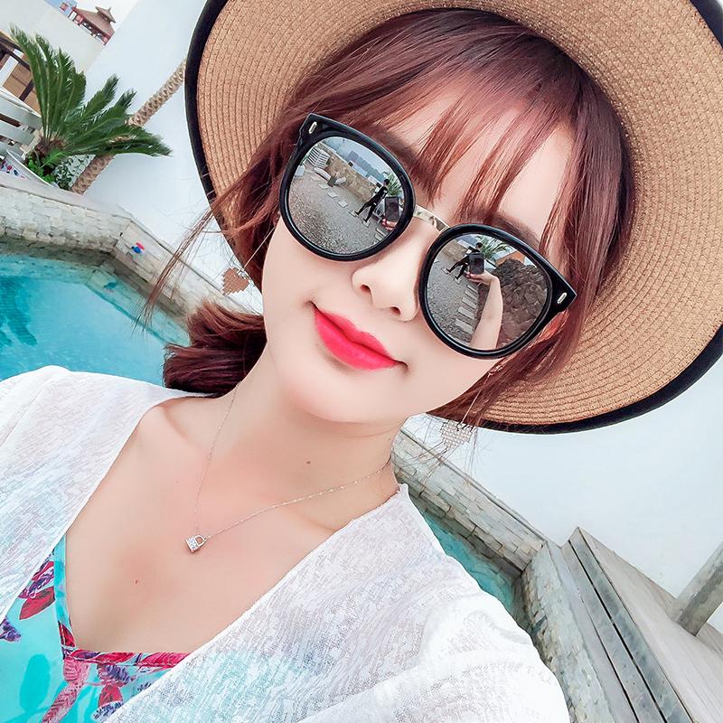 韩国2018新款太阳眼镜女潮复古圆脸防紫外线眼镜网红明星同款墨镜