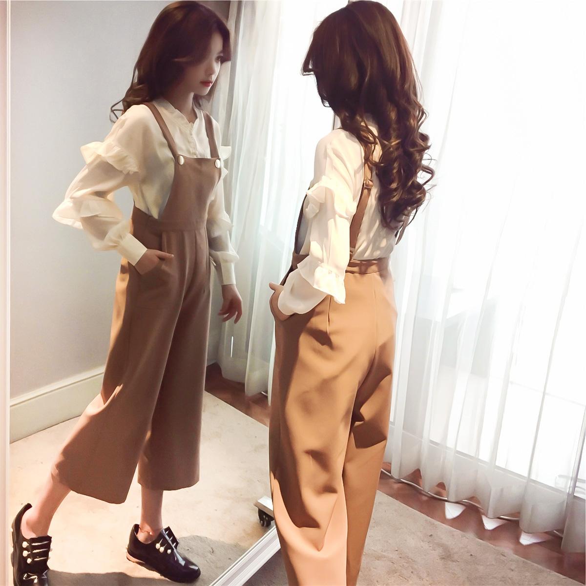 大码女装2018新款胖mm春秋装最爱微胖减龄时尚洋气显瘦阔腿裤套装
