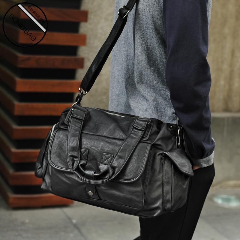 Single shoulder bag mens locomotive bag large capacity travel bag leisure cross carry on Bag Backpack Korean cross carry on Bag Fashion
