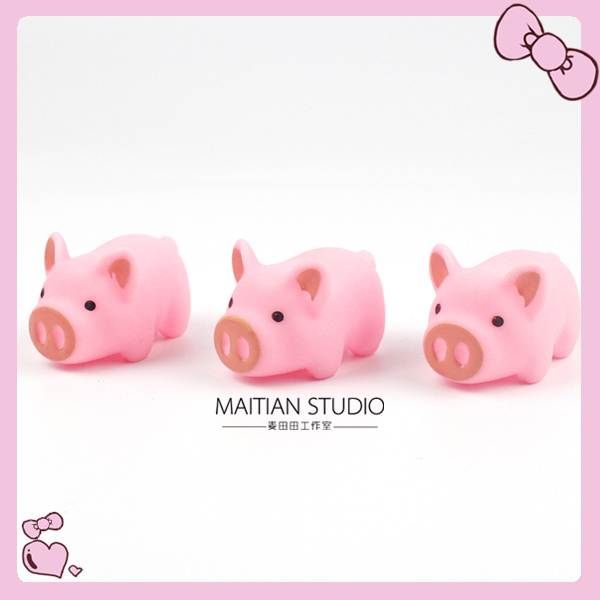 Cute pink pig and pig photo prop bjd20cm doll got7 scene accessories for fried baby